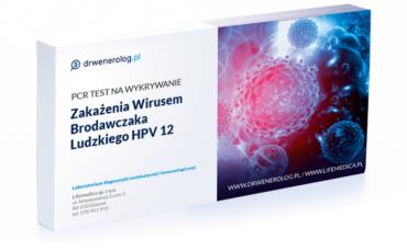 Test zakazenia wirusem brodawczaka ludzkiego HPV 12
